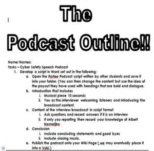 podcast script template cyber bullying research paper outline