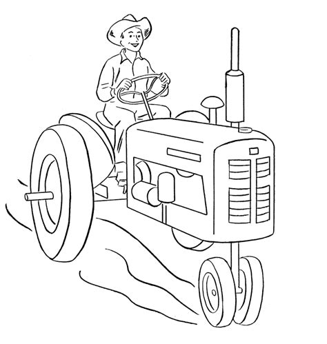printable coloring pages deere tractors free coloring pages of garden tractor