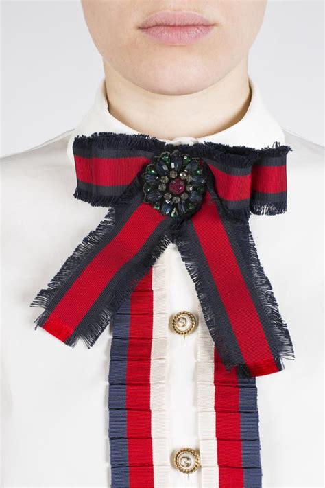 bow shaped brooch gucci vitkac shop