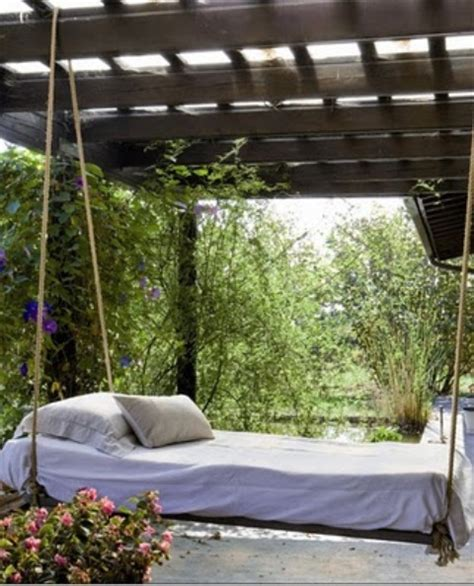 outdoor bed swings 39 relaxing outdoor hanging beds for your home digsdigs