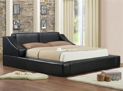 Queen Black Upholstered Platform Bed Frame Black Upholstered Bed Frame