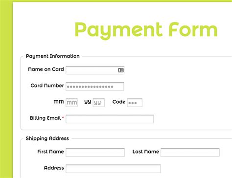 payment form template formassembly forms