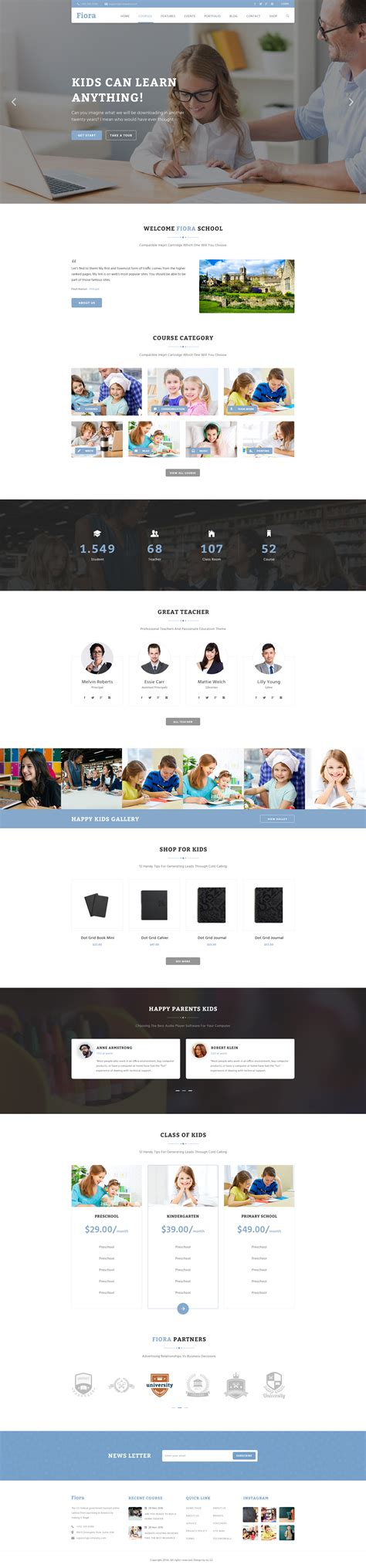 fiora item fiora education psd template by tiepnk themeforest
