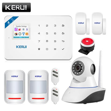 Jual Alarm Wireless Gsm wireless wifi gsm alarm system android ios app home security alarm system with pir