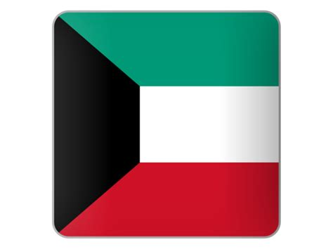 icon design kuwait square icon illustration of flag of kuwait