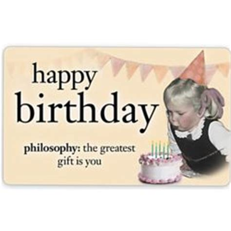 Philosophy Gift Card - happy birthday philosophy e gift card findgift com