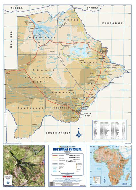 botswana map botswana bergen karte