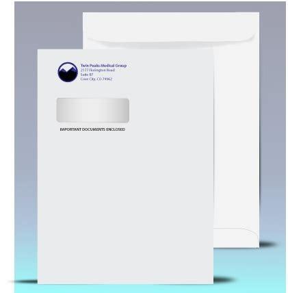 9 x 12 catalog window envelopes black 1 pms color print