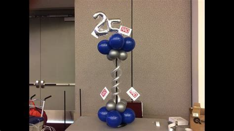 25th Anniversary Centerpiece   DIY Balloon Tutorial   YouTube