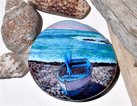 25 best ideas about fishing boats on pinterest ocean - Pebble Art Fishing Boat