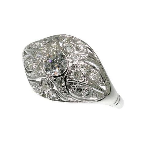 vintage dome ring ring engagement ring platinum