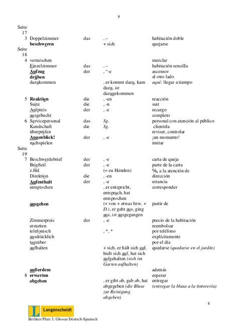 beschwerdebrief spanisch glossar spanisch bp3