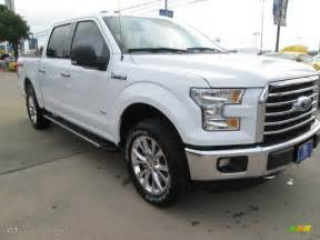 Ford F150 White 2015 Oxford White Ford F150 Xlt Supercrew 4x4 102966067