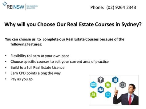 Real Estate Development Mba Programs by Real Estate Courses In Sydney From Reinsw