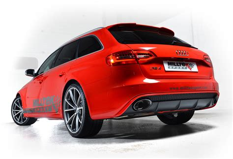 audi rs4 exhaust milltek exhaust system for audi rs4 b8