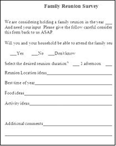 Free Family Reunion Survey Templates 1000 Images About Family Reunion Ideas On Pinterest Family Reunions Minute To Win It And