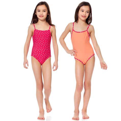 swimwear girls 10 12 bathing suits pack of 2 swimsuits girls age 4 to 12 years kiabi 8 00