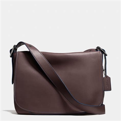 coach saddle bag messenger 38 in glovetanned leather in brown lyst