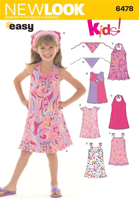 pattern dress child 6478 new look pattern child s dresses