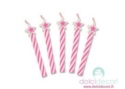 candele rosa candele per compleanno stelline rosa