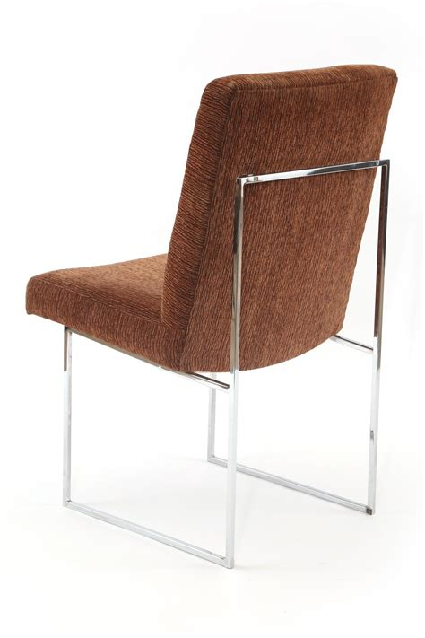 Milo Baughman Thayer Coggin Chrome And Upholstered Dining Milo Baughman Dining Chairs
