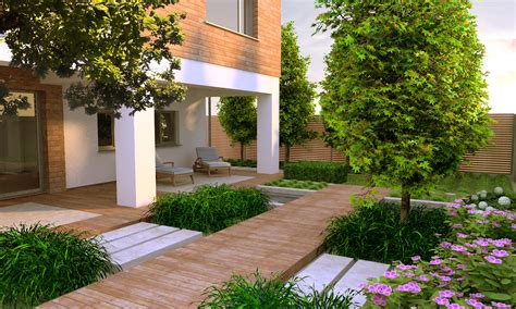 Modern Gardens Ideas Contemporary Garden Design Idea Gardening Contemporary Gardens Wood Walkway And