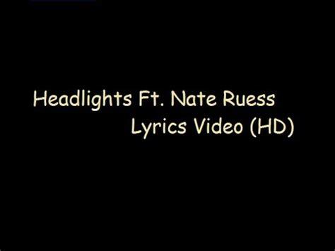 eminem headlights lyrics eminem headlights ft nate ruess lyrics youtube