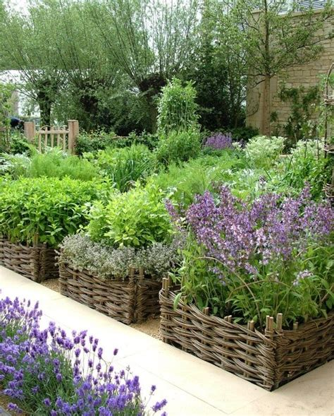 Raised Herb Garden Ideas Willow Hurdles And Raised Beds Great Ideas