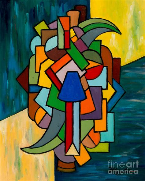 cubist paintings cubist dilemma painting by larry martin