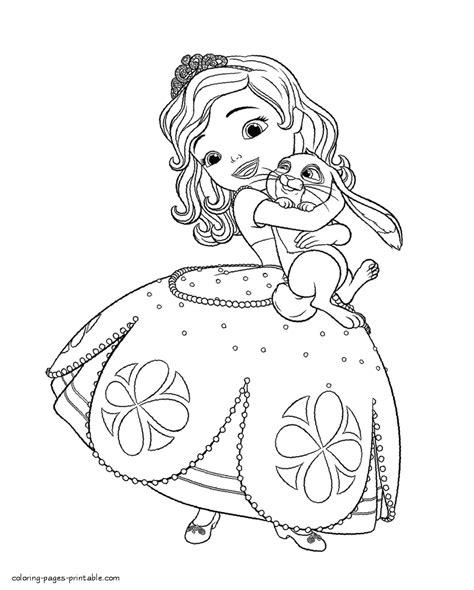 Sofia Coloring Pages Princess Sofia Coloring Book Printable