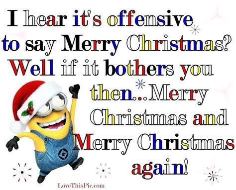Offensive Christmas Meme - minions christmas minions offensive see my