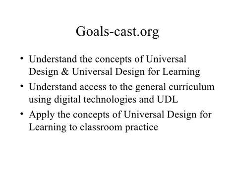 definition universal design for learning udl2007