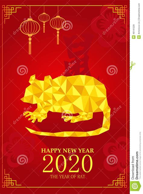 new year the year of the rat new year design for year of rat stock vector