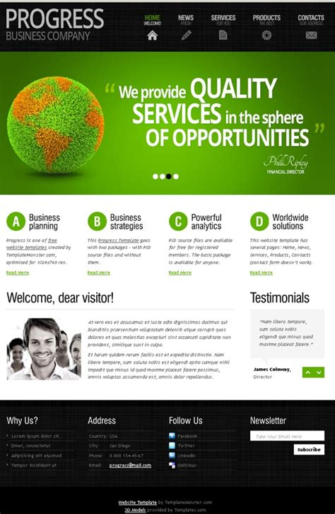 Free Website Template With Slider And Expressive Typography Free Web Templates All Free Web Site Template Free