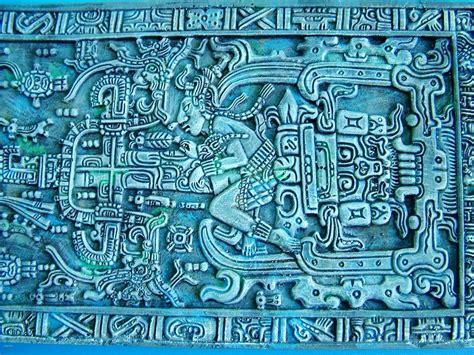 mayan art pakal tombstone limestone carving mayan art
