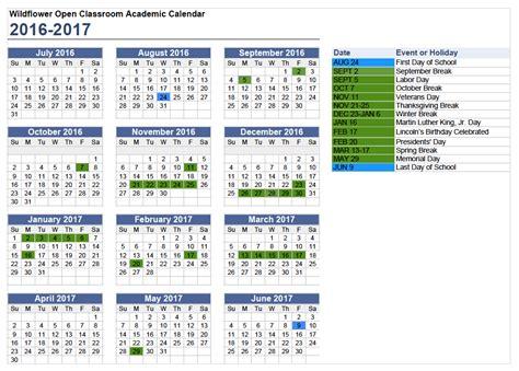 Fcps Calendar 2016 Academic Year Calendar 2015 16 Printable Calendar