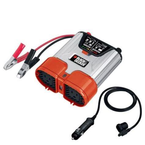Power Inverter Tbe 500 Watt black decker 500 watt dual outlet power inverter pi500bb the home depot