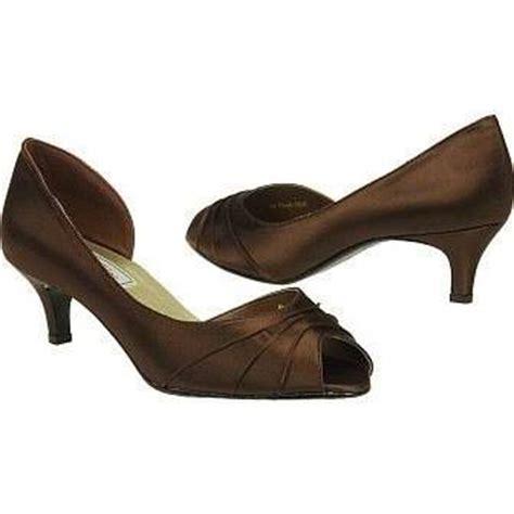 Brown Satin Low Heel Bridal Shoes   Wedding Shoes Blog