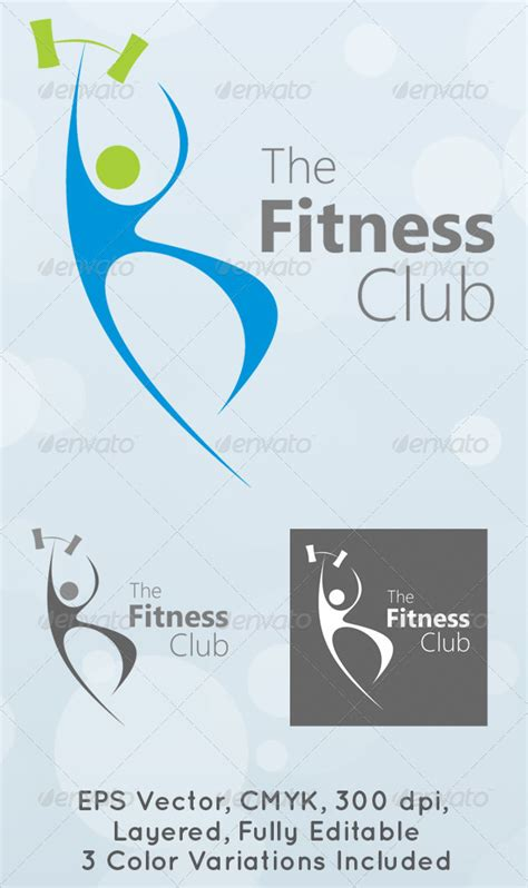 fitness logo templates the fitness club logo template graphicriver