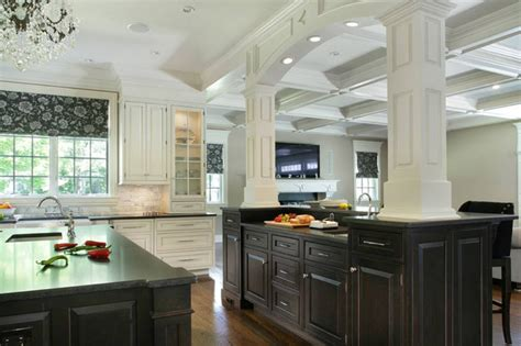 Houzz Kitchen Cabinets Black And White Kitchen Cabinets Contemporary Kitchen New York By Creative Design
