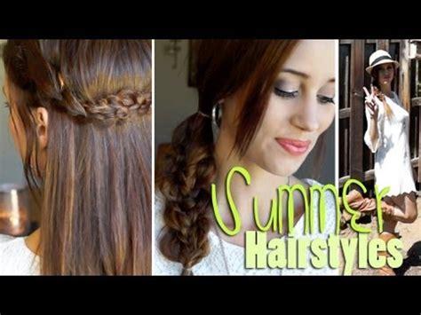 heatless hairstyles for summer 2 easy heatless hairstyles for summer outfits youtube