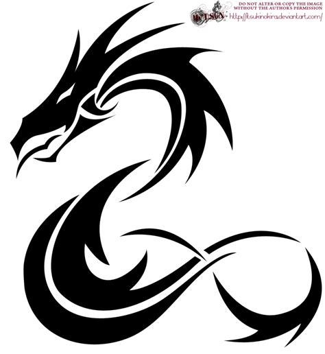 simple dragon tattoo designs tribal by itsukinokira on deviantart