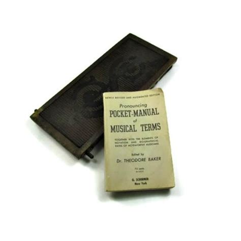 1947 Vintage Pocket Manual Of Musical Terms Attic And
