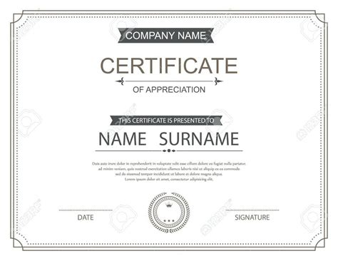 commendation certificate template sle resume commendation certificate template gallery