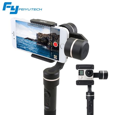 iphone gimbal feiyutech spg gimbal 3 axis splash proof handheld gimbal stabilizer for iphone x 8 7 6 plus