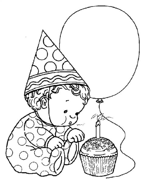 birthday coloring page for boy free coloring pages of boy driving car