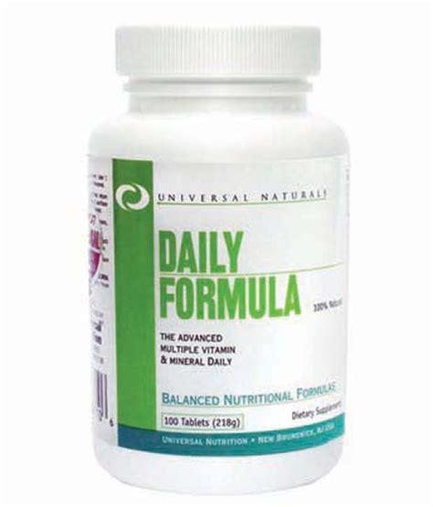 Universal Credit Formula Universal Nutrition Daily Formula Multivitamin 100 Tabs Buy Universal Nutrition Daily Formula