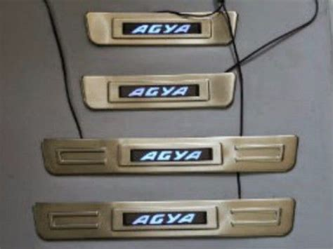 Sillplate Stainless Sing Agya door sill plate led toyota agya