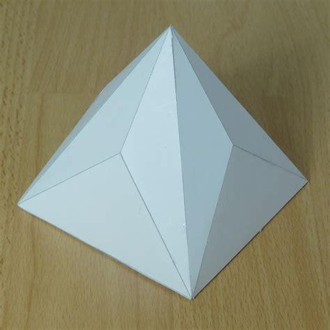 A Paper Pyramid - paper square octagonal pyramid triakis square pyramid
