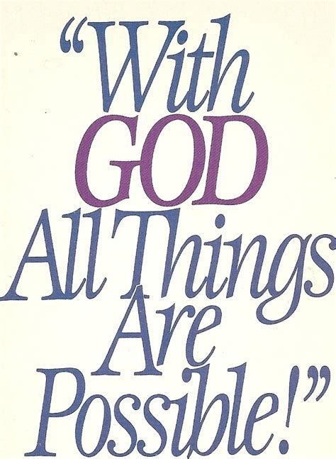 religious quotes with god all things are possible bible quote free